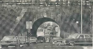 The awful tunnel with cars about mangelsen's