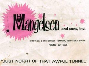 HW Mangelsen and sons, inc. shopping bag about Mangelsen's