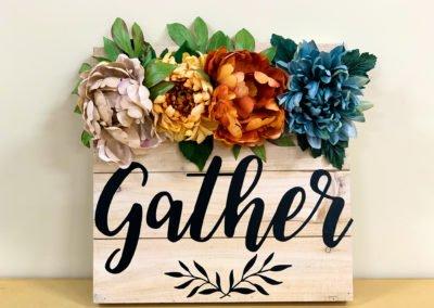 """Gather"" Decorative Autumn Sign"