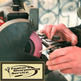 Foster's sharpening event at Mangelsen's